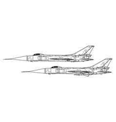 sukhoi su-15 flagon vector image