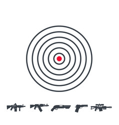 target and guns vector image