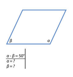 the task to find the corners of the parallelograms vector image