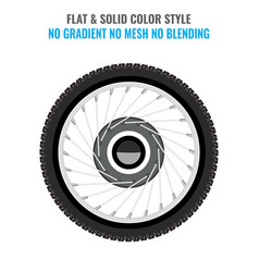 tire icon with flat and solid color style vector image