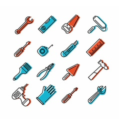 Tools icons set vector