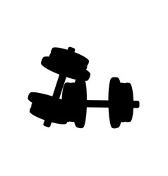 typesetting dumbbells silhouette fitness equipment vector image