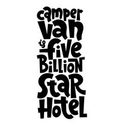 Van life lettering vector