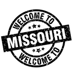Welcome to missouri black stamp vector