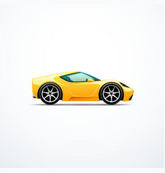 yellow cartoon sport car vector image