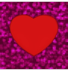 Abstract mosaic glowing heart background EPS 8 vector image