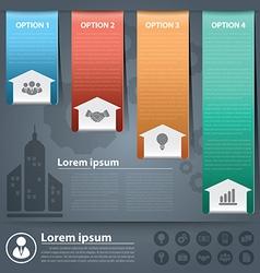Arow business infographics2 vector image vector image