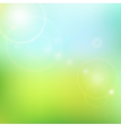 blur blue and green background vector image