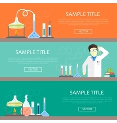 Chemistry infographics banners vector image