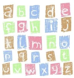 doodle alphabet 2 vector image vector image