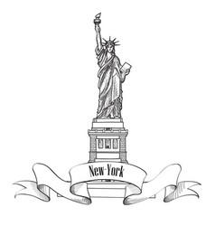 liberty statue new york city usa travel usa symbol vector image vector image