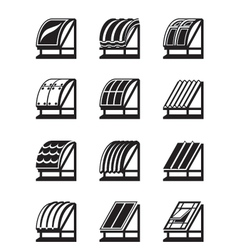 Modern building materials for roofs vector image vector image