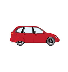 Red car vector image vector image