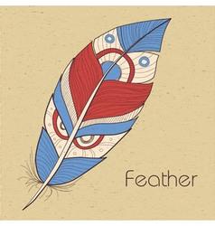 Retro feathers vector