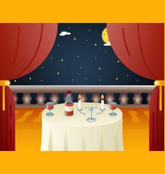 romantic evening night love beloved dating wine vector image vector image