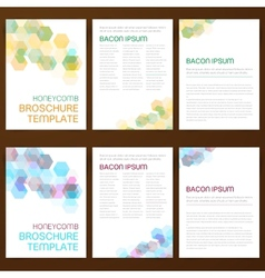 Abstract modern flyer brochure vector image vector image