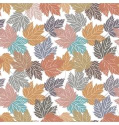 Beautiful vintage tree leaves seamless vector image