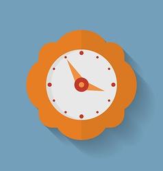 Icon of orange clock Flat style vector image vector image