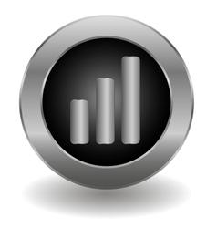 Metallic signal button vector image vector image