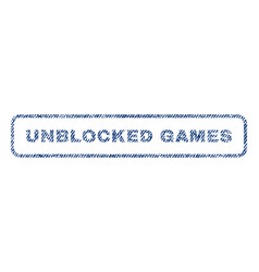 unblocked games textile stamp vector image vector image