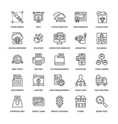 web design icons 5 vector image vector image