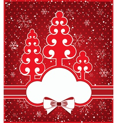 Winter greeting card vector image vector image