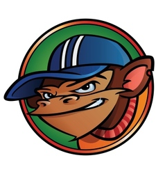 Cool monkey with cap vector image vector image