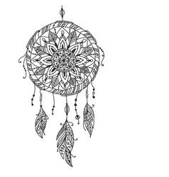 dreamcatcher sketch for your design vector image