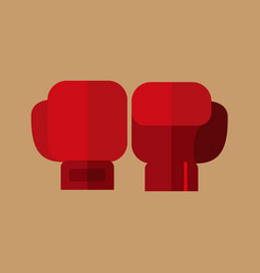 simple flat style boxing gloves sport graphic vector image
