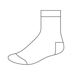 Sock template vector