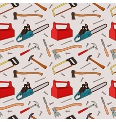 Woodworking tools pattern vector image vector image
