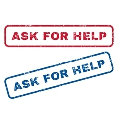 Ask for help rubber stamps vector