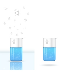Chemical beaker with evaporating solution vector image vector image