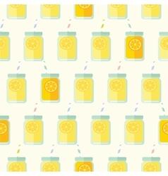 Flat seamless pattern with mason jar vector image