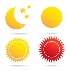 Moon sun and star symbol vector