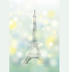 paris spring background eiffel tower travel vector image