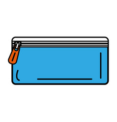 pencil holder bag isolated icon vector image