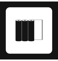 Rolls of paper icon simple style vector image vector image
