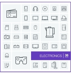 thin line icons set and graphic design vector image vector image