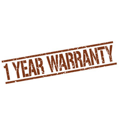 1 year warranty stamp vector