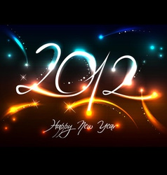 2012 new years banner vector image