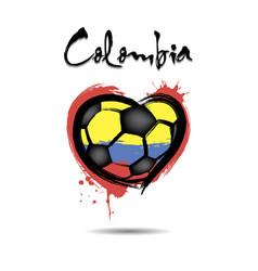 4543 - switzerland heart soccer vector image