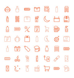 49 full icons vector image