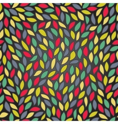 Abstract seamless pattern with colored leaves vector