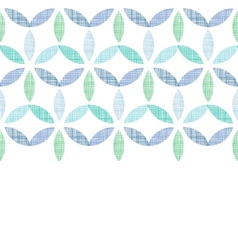 Abstract textile blue green leaves horizontal vector image