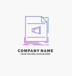 Audio file format music sound purple business vector