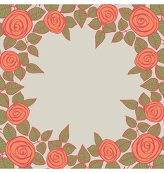 Beautiful background with roses vector image