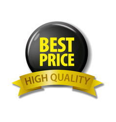 black button best price - high quality vector image