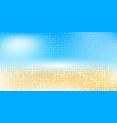 blurred summer background beach with sparkles and vector image