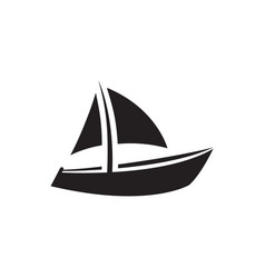 boat icon in flat style for apps ui websites vector image